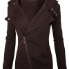 Women Slim fit Zip-up Hoodie Jacket