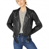 Faux Leather Belted Motorcycle Jacket