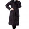 Black Water Resistant Down Parka Coat