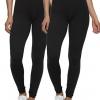 Yoga Pants Velvety Super Soft Lightweight Leggings 2-Pack - for Women