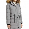 Lined Down Parka Hooded Winter Coat Drawstring Puffer Jacket