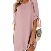 Summer Dresses for Women Half Sleeves Self-tie