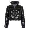 Women Winter Long Sleeve Zipper Puffer Jacket