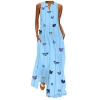 Dress Contrast Color Print Half Sleeves Robes Oversized