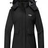 Women's Warm Ski Coat Fleece Winter Jackets Windproof Raincoat
