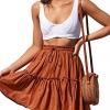 Women's Floral Flared Short Skirt Polka Dot