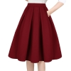 A-Line Pleated Vintage Skirts with Pockets for Women