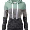 Women's Basic Simple Lightweight Pullover Long Sleeve Hoodie
