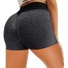 Fitness Yoga Pants, High Waist Jacquard Honeycomb