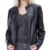 Slim Women's Faux Leather Jacket