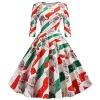 Women Dress Christmas Cat Print Half Sleeve Skirt Novelty