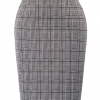Waist Stretchy Bodycon Plaid Business Pencil Skirt