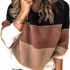 Sweaters Casual Long Sleeve Crewneck Color Block