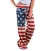 Loose Casual Pants American Flag Drawstring Wide Leggings