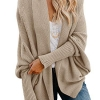 Womens Kimono Batwing Cable Knitted Slouchy Oversized Wrap