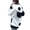 Cute Bear Ear Panda Winter Warm Hoodie Coat