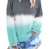 Hoodie Sweatshirt Colorblock Tie Dye Printed Pullover