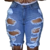 Women Ripped Holes Jeans Denim Pencil Shorts