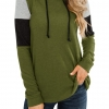 Color Block Pullover Sweaters for Women Long Sleeve
