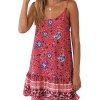 Womens Summer Beach Dress Spaghetti Strap