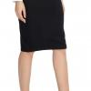 Elastic Waist Stretch Bodycon Midi Pencil Skirt