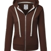 Womens Active Fleece Zip Up Hoodie Sweater Jacket