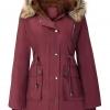 Womens Plus Size Fleece Lined Parka Jacket