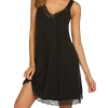 Gown Women Chemise V Neckline Lace-Trimmed Nightgown Scalloped