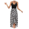 Sleeveless V-Neck Floral Summer Casual Long Skirt Dress