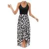 Sleeveless V-Neck Floral Summer Casual Long Skirt Dress