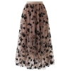 Long Skirts for Women Swing Floral Print Tulle