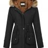 Hooded Thicken Fleece Parkas Faux Fur Jackets