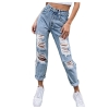 Jeans for Women High Waisted Stretch Baggy Straight Leg Ripped