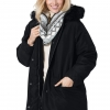 Women's Plus Size Microfiber Down Parka Winter Coat
