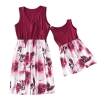 Mommy and Me Dresses Casual Floral Family Outfits