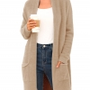 Long Sleeve Plush Sweater Coat with Pockets