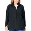 Women's Plus Size Zip-Front Microfleece Jacket