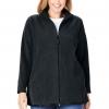 Women's Plus Size Zip-Front Microfleece Jacket