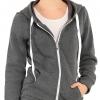 Womens Soft Zip Up Fleece Hoodie Sweater Jacket