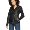 Oversized Faux Leather Belted Motorcycle Jacket